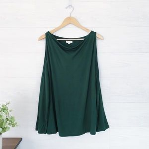 Urban Outfitters Green Off Shoulder Comfy Top